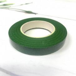 Флористическая тейп - лента цвет темно-зелёёный 1 рулон 30 ярд