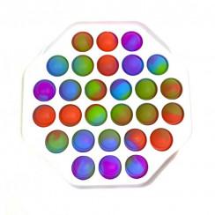 Попит радужный многоугольник пупырка антистресс (Pop it)