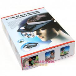 Лупа с подсветкой и креплением на голову, со сменными линзами, арт. MG 81001-A