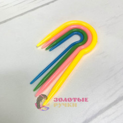 Набор вспомогательных спиц для вязания кос размер: (2; 2,5; 3; 4 мм)