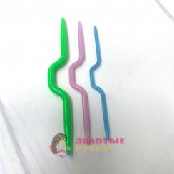 Спицы вспомогательные для вязания косичек пластик упак.3шт раз. (2,5;3,5;4,5мм)