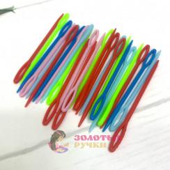Иголки пластиковые для шерсти и пряжи 9см ( в уп 50шт)