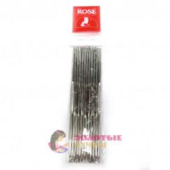Набор двухсторонних  крючков для вязания металлическая, d = 1-6мм, 13 см, 12шт