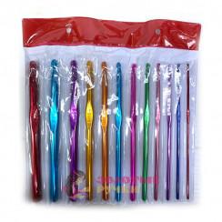 Набор крючков для вязания  2-8 мм, 12 шт, алюминиевые