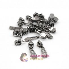 Бегунки спираль тип 5 автомат цв. тем никель (уп 50 шт)