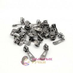 Бегунки спираль тип 7 автомат цв. тем никель (уп 50 шт)