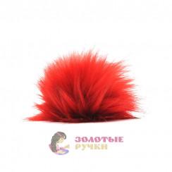 Помпоны 25 см - цвет красный