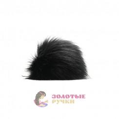 Помпоны 25 см - цвет черный