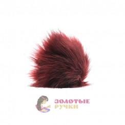 Помпоны 25 см - цвет бордовый