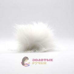 Помпоны 25 см - цвет белый