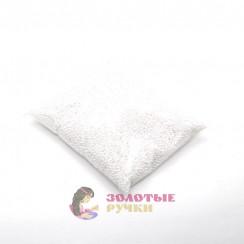 Бусины 4 мм цвет белый в упаковке 500 гр
