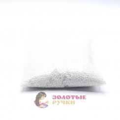 Бусины 3 мм цвет белый в упаковке 500 гр