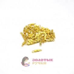 Застёжка для бусы винтовая маленькая золото в упаковке 50 шт
