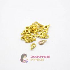 Карабин для бусы золото в упаковке 50 шт