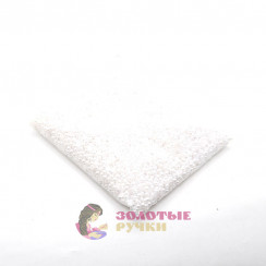 Полубусины круглый обычный 6 мм цвет белый в упаковке 500 гр