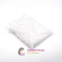 Полубусины круглый обычный 8 мм цвет белый в упаковке 500 гр