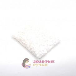 Полубусины круглый обычный 10 мм цвет белый в упаковке 500 гр