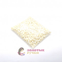 Полубусины круглый обычный 14 мм цвет жемчуг в упаковке 500 гр
