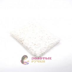 Полубусины круглый обычный 14 мм цвет белый в упаковке 500 гр