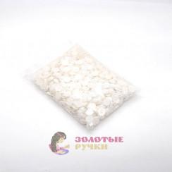 Полубусины в форме цветочки цвет жемчуг 10 мм в упаковке 500 гр