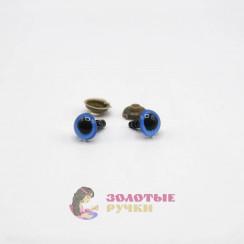 Глазки для игрушки с резьбой 10 мм в упаковке 100шт цвет синий