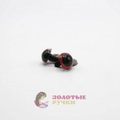 Глазки для игрушки с резьбой 10 мм в упаковке 100шт цвет красный