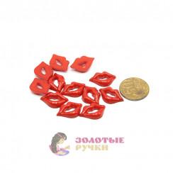 Губы для игрушки красный в упаковке 100 шт