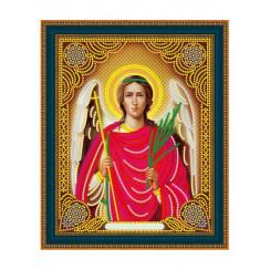 Алмазная мозаика Ангел-хранитель, на подрамнике - размер иконы 27*33