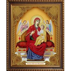 Алмазная мозаика Божией Матери Всецарица, на подрамнике - размер иконы 27*33