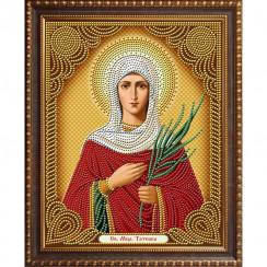 Алмазная мозаика Святой Татьяны, на подрамнике - размер иконы 27*33
