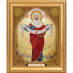 Алмазная мозаика Покровитель Пресвятой Богородицы, на подрамнике - размер иконы 27*33