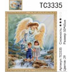 Алмазная мозаика Ангел хранитель, на подрамнике - размер 50*65