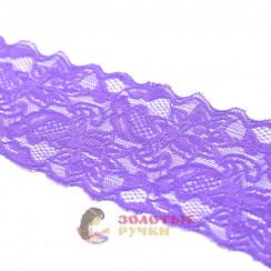 Кружево капрон, стрейч 8 см, намотка 9,3 метров, цвет фиолетовый