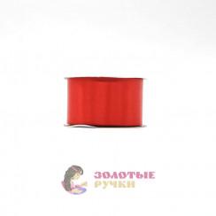 Атласная лента в рулонах по 30 ярдов, ширина 50 мм, цвет красный