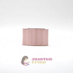 Атласная лента в рулонах по 30 ярдов, ширина 50 мм, цвет грязно розовый