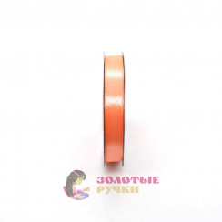Атласная лента в рулонах по 30 ярдов, ширина 12 мм, цвет персик