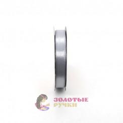 Атласная лента в рулонах по 30 ярдов, ширина 12 мм, цвет серый