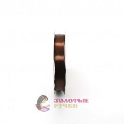 Атласная лента в рулонах по 30 ярдов, ширина 12 мм, цвет коричневый