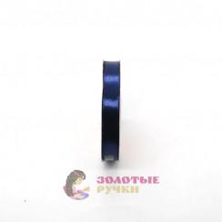 Атласная лента в рулонах по 30 ярдов, ширина 12 мм, цвет темно синий