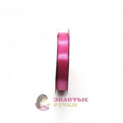 Атласная лента в рулонах по 30 ярдов, ширина 12 мм, цвет малина