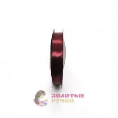 Атласная лента в рулонах по 30 ярдов, ширина 12 мм, цвет бордовый