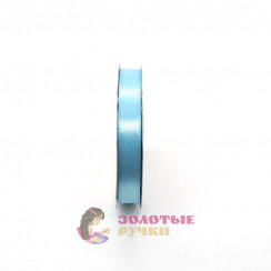 Атласная лента в рулонах по 30 ярдов, ширина 12 мм, цвет голубой