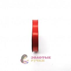 Атласная лента в рулонах по 30 ярдов, ширина 12 мм, цвет красный