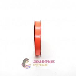 Атласная лента в рулонах по 30 ярдов, ширина 12 мм, цвет оранжевый