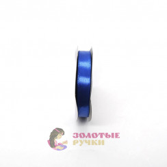 Атласная лента в рулонах по 30 ярдов, ширина 12 мм, цвет синий