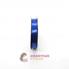 Атласная лента в рулонах по 30 ярдов, ширина 12 мм, цвет васильковый