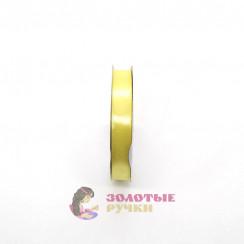 Атласная лента в рулонах по 30 ярдов, ширина 12 мм, цвет желтый