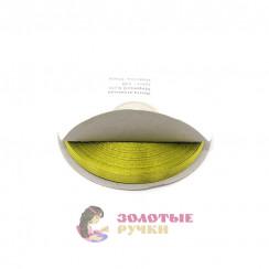 Атласная лента в рулонах по 30 ярдов, ширина 6 мм, цвет фисташковый