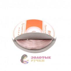 Атласная лента в рулонах по 30 ярдов, ширина 6 мм, цвет грязно-розовый