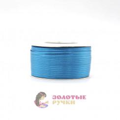 Атласная лента в рулонах по 144 ярда, ширина 3 мм, цвет бирюзовый